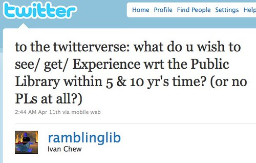 Twitter / Ivan Chew: to the twitterverse: what ...