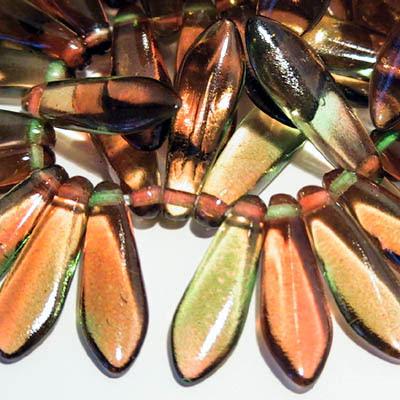 27801475-06 Glass Daggers - 5 x 16 mm Dagger Beads - The Evil Queen