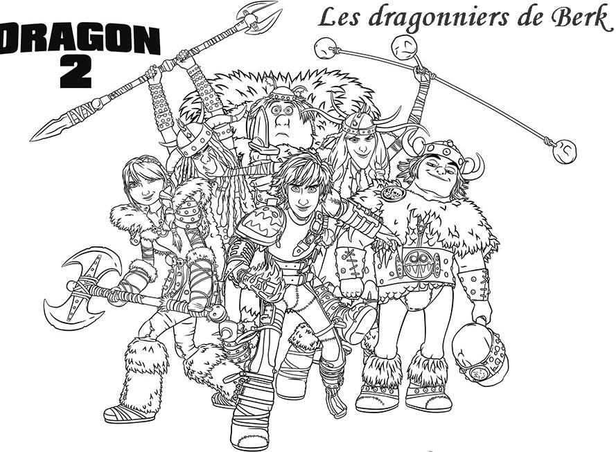 Coloriage A Imprimer Dragons 1 Et 2 S5912