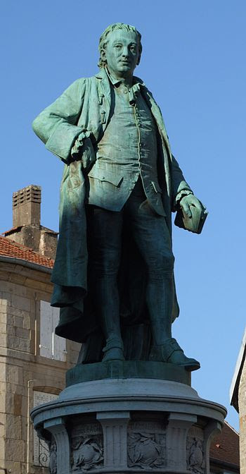 English: Statue of Denis Diderot by Frédéric A...