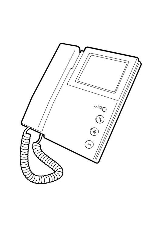 Dibujo Para Colorear Teléfono Img 28293