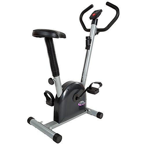 TecTake Magnetic exercise bike fitness workout home cycling machine with computer