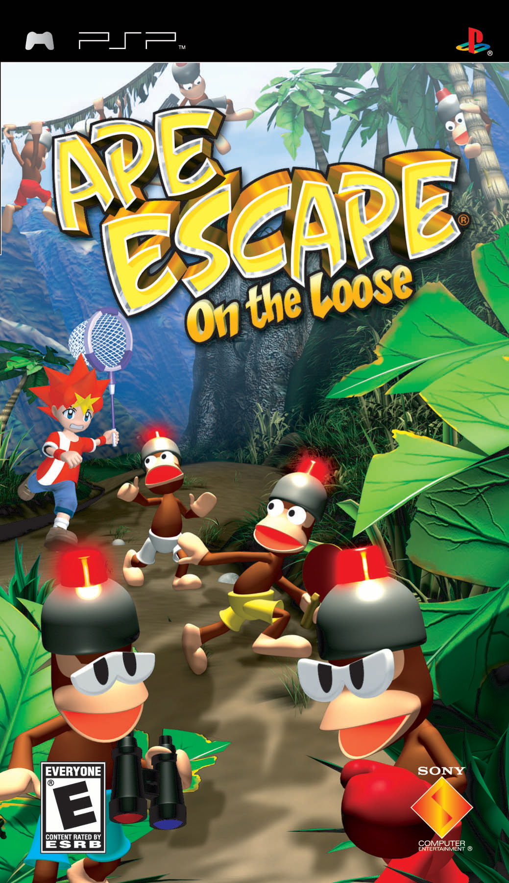 Ape Escape On The Loose psp front cover box art