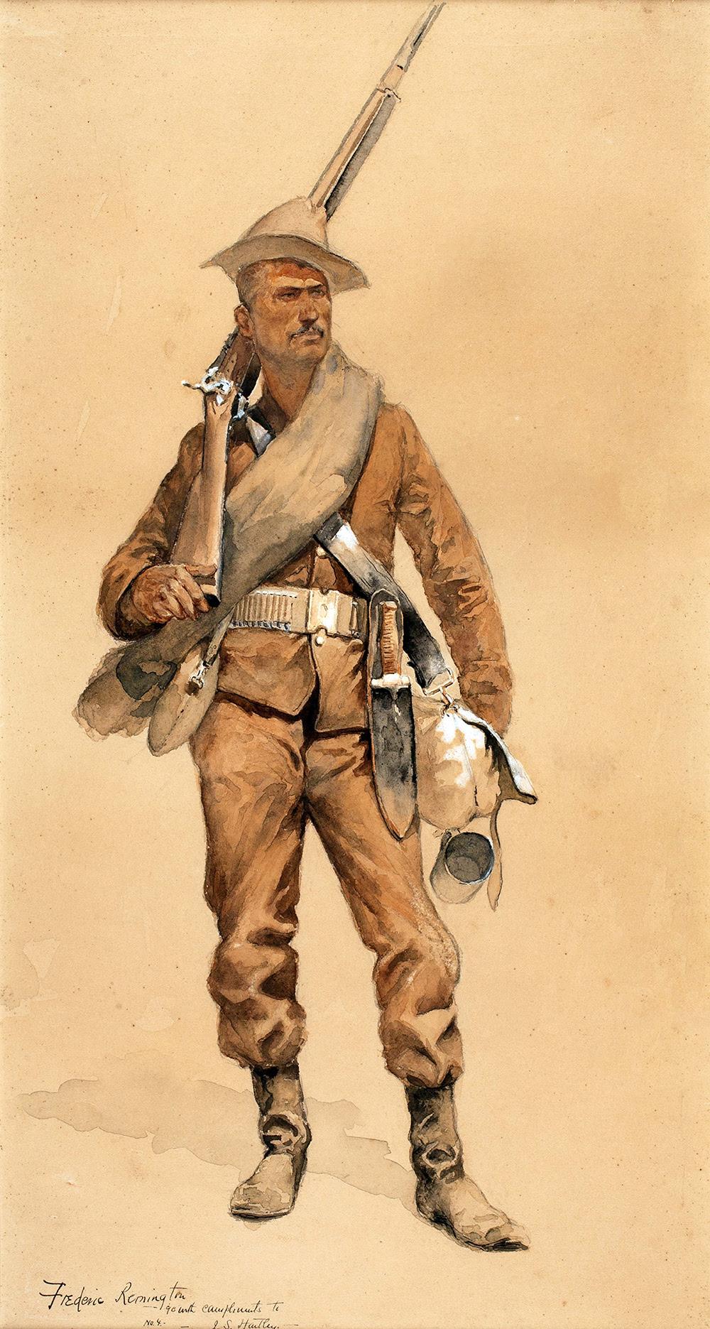 Remington,Frederic,Infantryman in Field Costume,1952.16
