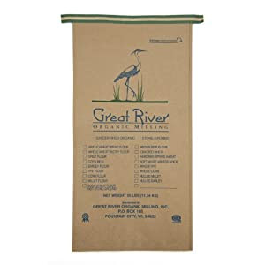 Great River Organic Milling, Organic Specialty Whole Wheat Pastry Flour, 25-Pound Package