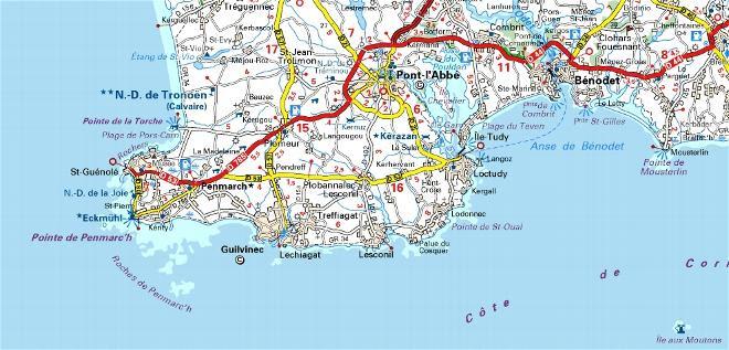 Carte Bretagne Cote Atlantique