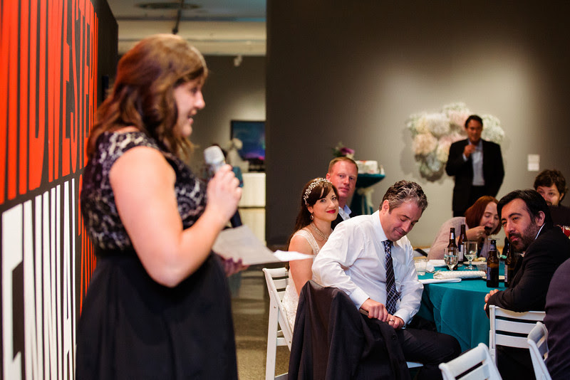 A wedding reception at Rockford Art Museum in Rockford, IL which was preceded by a small summer garden ceremony.