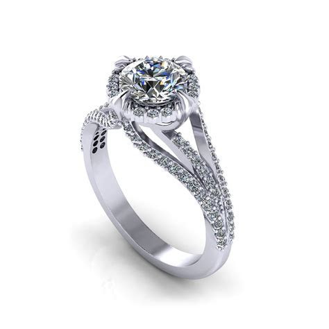 Unique Halo Engagement Ring   Jewelry Designs