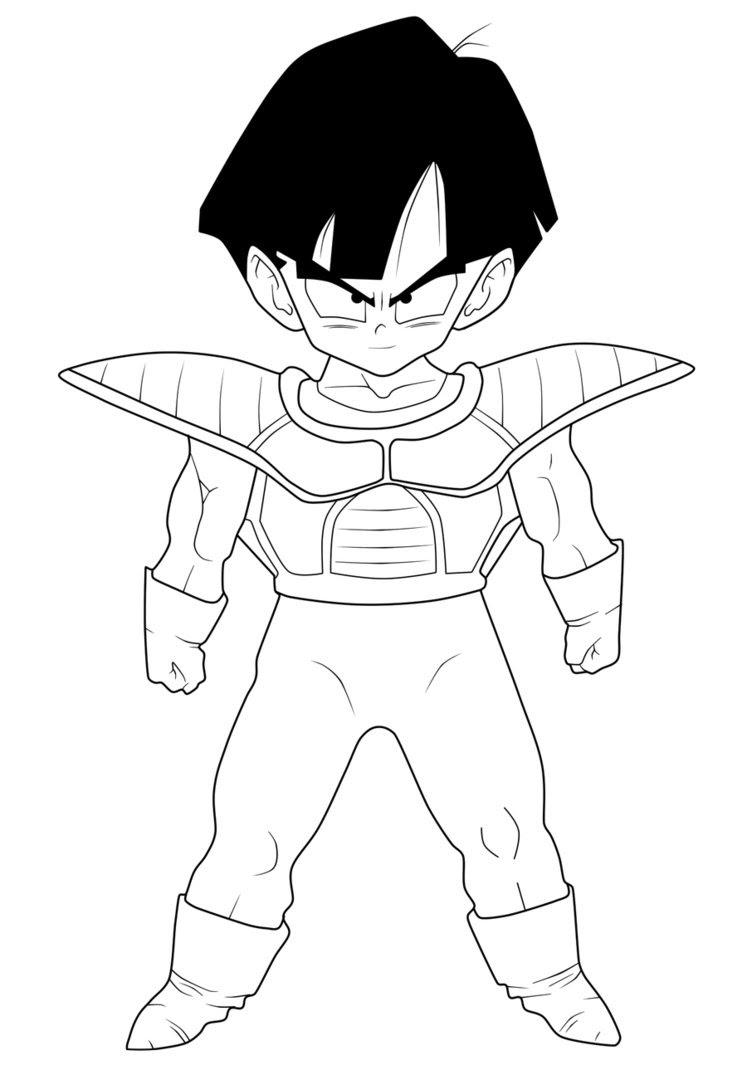 Dibujos Para Colorear De Dragon Ball Z Gohan Del Futuro Auto