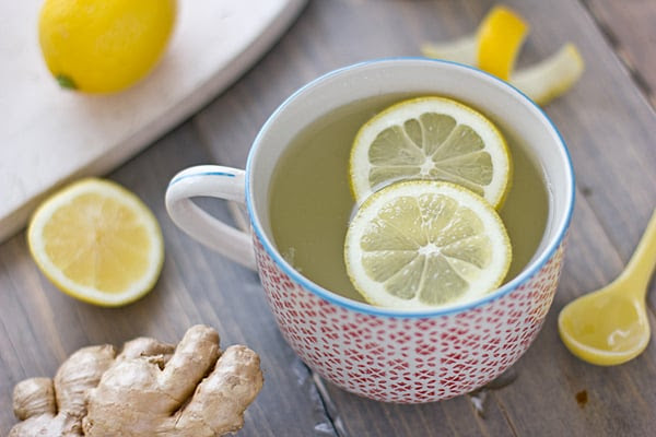 Resultado de imagen de lemon and ginger tea