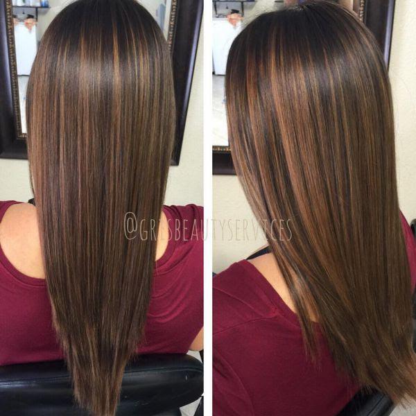 neueste Braune Haare Mit Hellbraunen Strähnen