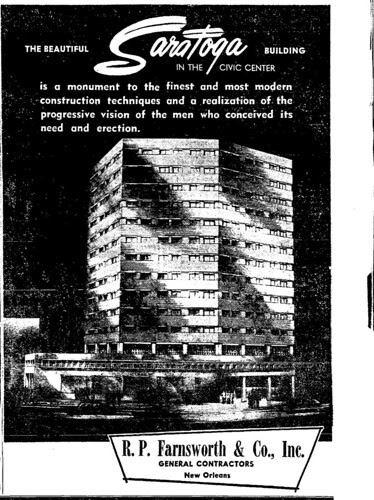 Saratoga Building 1957