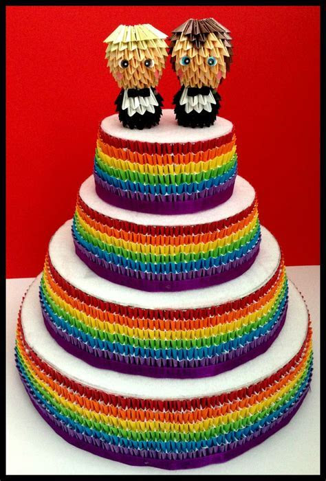 Groom & Groom Gay Wedding Cake Toppers Gay Pride Wedding