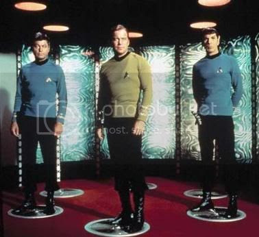 Kirk, Spock, McCoy