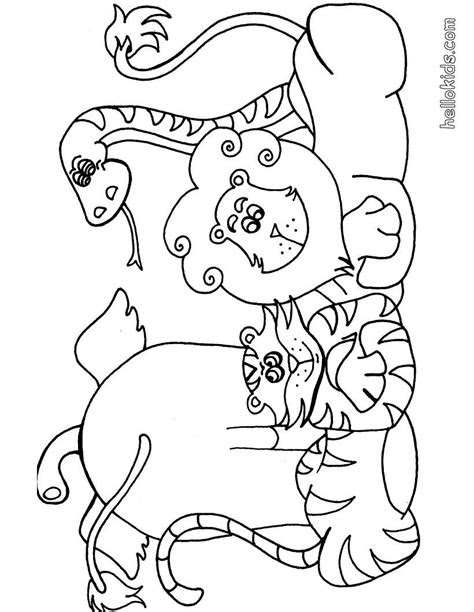 wild animal coloring page  africain animals coloring