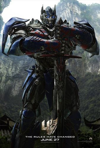 TRANSFORMERS: AGE OF EXTINCTION theatrical poster.