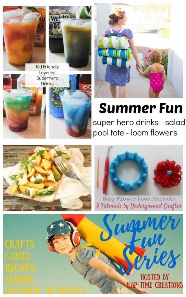 Kids Friendly Layered Superhero Drinks and Summer Fun