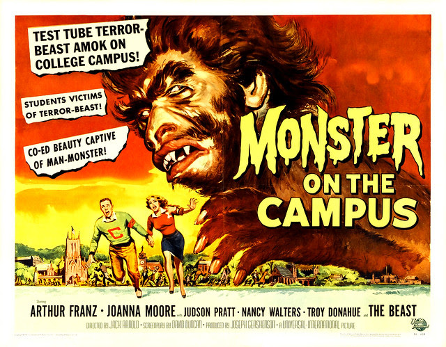 Reynold Brown - Monster on the Campus (Universal International, 1958) half sheet