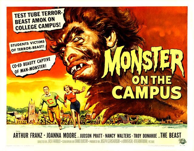 Reynold Brown - Monster on the Campus (Universal International, 1958) half sheet