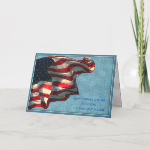 Veterans Day, Thank You - Military Greeting Card card