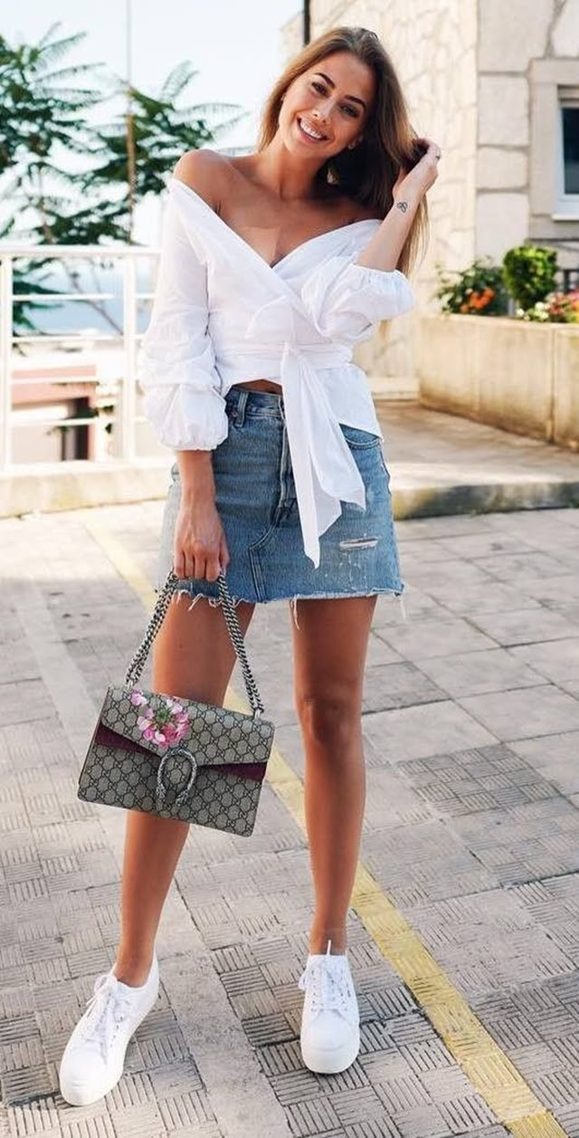 45 ohsocool summer outfits with sneakers 2020