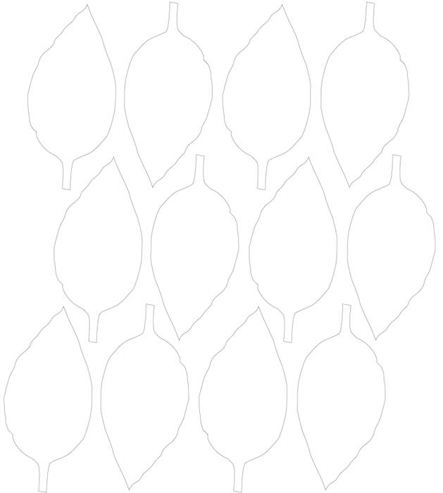 Розы из бумаги. Готовые шаблоны для распечатки (8) (629x700, 78Kb)