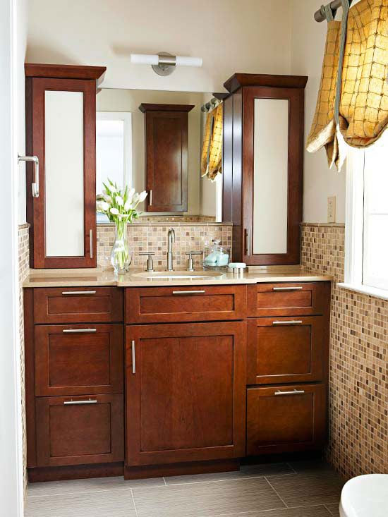 26 brown and white bathroom tiles ideas and pictures
