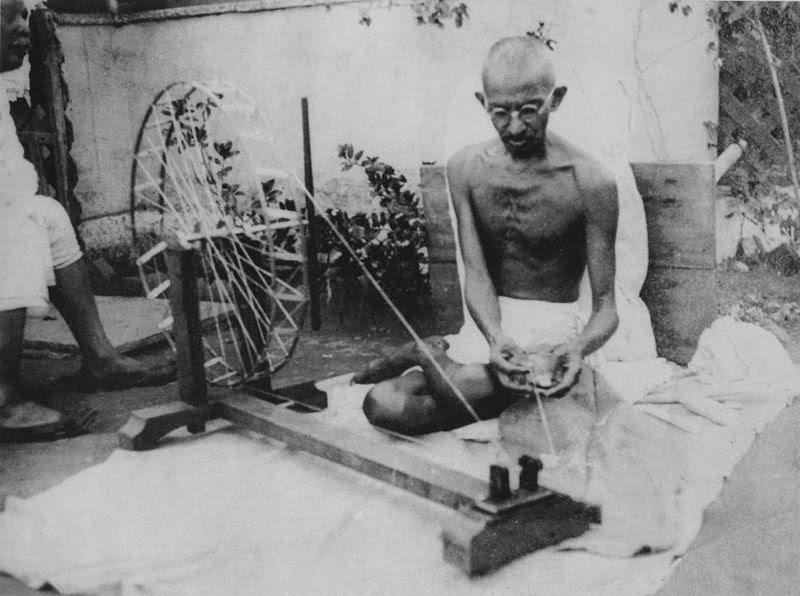 File:Gandhi spinning.jpg