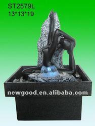 Indoor Mini Fountain Decoration Women Fountain Statue - Buy Women ...