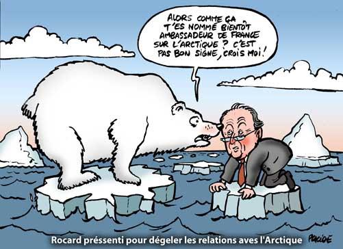 Arctique: Michel Rocard ambassadeur de France sur la banquise