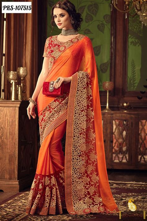 designer sarees for wedding reception with price ? Ethnic