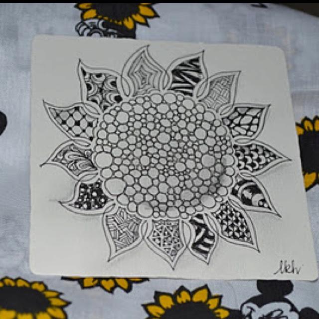 Zentangle Sunflower   Zentangles,Doodles, Art tips and ...