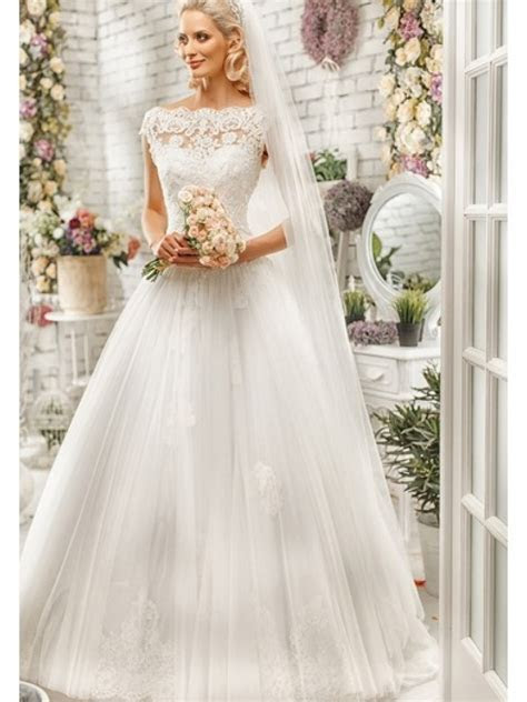 Elegant Lace Top Sweetheart Wedding Dresses Bridal Gowns
