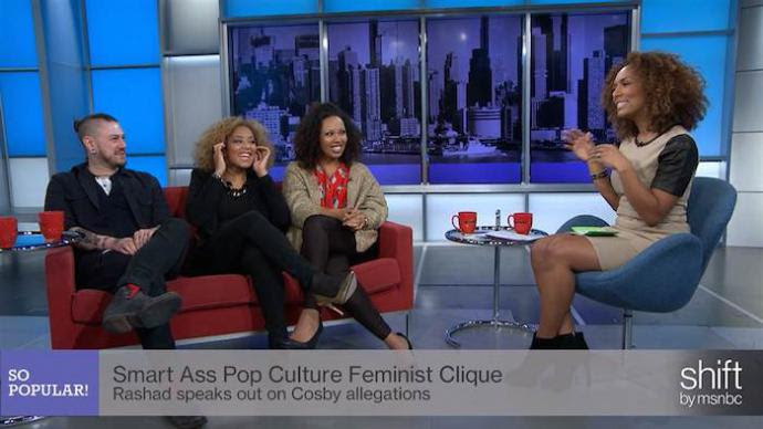 Janet Mock and guests on her show