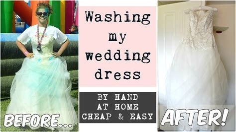 How to wash a wedding dress at home   YouTube