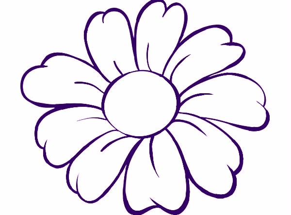 FLOWERS OUTLINE Colouring Pages - Cliparts.co