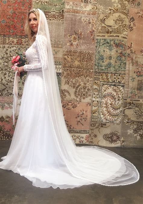 Ines Lace and Silk Flowy Wedding Dress   Dreamers and Lovers