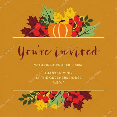 Free Thanksgiving Invitation Cards