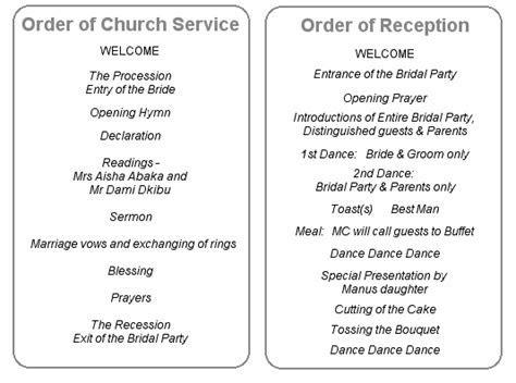 wedding reception in church wording   Google Search