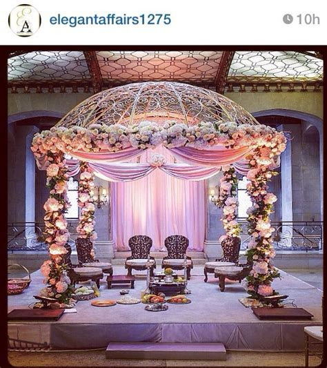 Mandap   but maybe fewer flowers & neutral colors