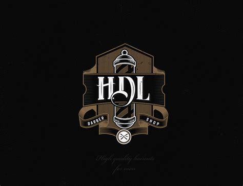 vintage logo design concept  hdl barber shop de