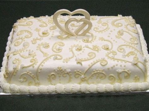 Bridal Shower Cake with hearts top