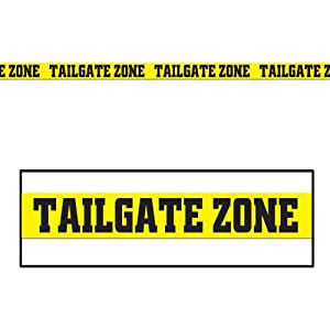 Amazon.com: Tailgate Zone Party Tape Party Accessory (1 count) (1 ...