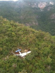 Ultraleve caiu no Morro do Oratório, em local de difícil  acesso-Divulgação, Brigada Militar