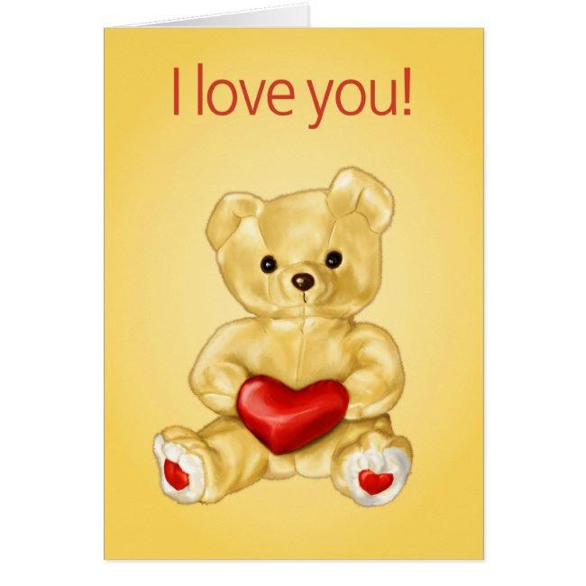Cute Teddy Hypnotist Valentine Card