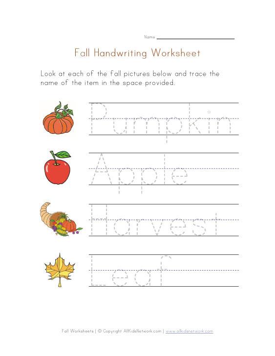 kids handwriting worksheets_352634