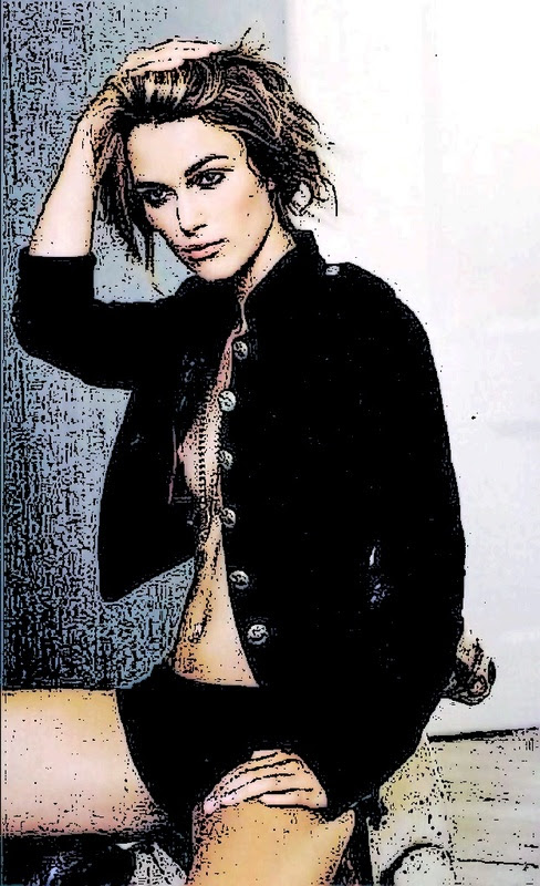 Keira Knightley at Home With