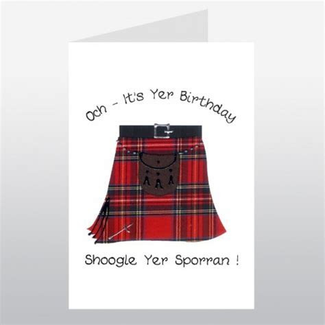 Happy Birthday Kilt   Scottish Birthday Card   Greetings