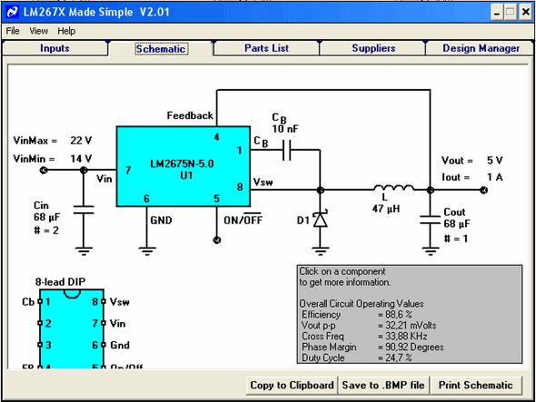 ĐCĐC-lm267x bước xuống-điều-lm267x-thiết kế-công cụ
