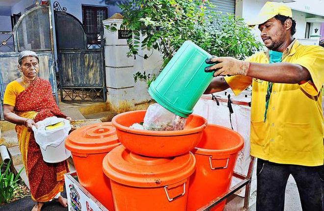 Image result for Trichy Corporation lauded for segregated waste collection